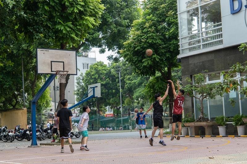 Sân bóng rổ Học viện Ngân hàng